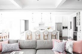 gorgeous gray living room. This Gorgeous Gray Sectional Gets A Pop Of Color With And Pink Pillows That Beautifully Complement Throw Blanket. Living Room I