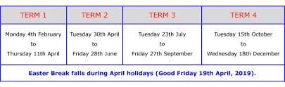 Enrolment Fees and Term dates