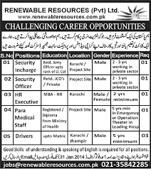 security incharge officer hr executive paramedical staff driver jobs in karachi executive driving jobs