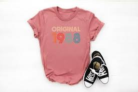 31st Birthday Tshirt 1988 Birthday Ideas Funny Gifts Women Birthday Gifts Cute Top Retro Shirt Gifts Friend Shirt Family Gifts Birthday Tees