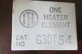 Siemens Overload Heater Chart Ite Gould Overload Heater T18 Lot Of 2 Used 10 00