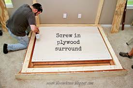 plywood surround for faux fireplace diy blesser house featured on remodelaholic