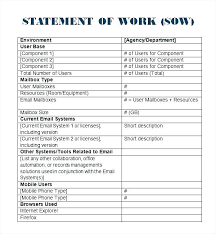 Simple Statement Of Work Template It Sow Template Renovation Simple Word