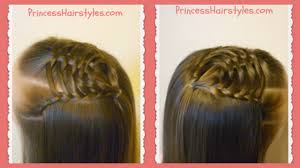 Lace Hair Style woven pyramid half up hairstyle tutorial princess hairstyles 6985 by wearticles.com