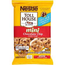 nestle toll house mini chocolate chip cookie dough 16 5 oz