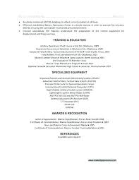 Example Of A Military Resume Penologist Resume Military Veteran