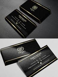 Visiting Card Design Black And Gold Gold And Black Business Card Template Pdf Black Business