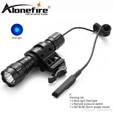 Blue Light Hunting Alonefire Cree 501bs Blue Light Hunting Led Flashlight Torch Pressure Hunting Light Lamp For 18650 Battery Guidesman Flashlight Hunting Flashlight