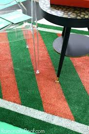 painted rug perfect for summer events and with turf design artificial rugs grass green outdoor lawn