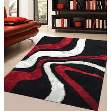modern rug red. modern rug addiction hand-tufted polyester red and black shag area .