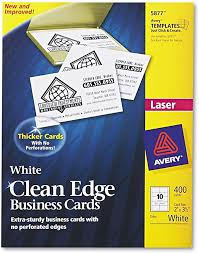 We did not find results for: Amazon Com Avery Printable Business Cards Laser Printers 400 Cards 2 X 3 5 Clean Edge 5877 White Business Card Stock Office Products