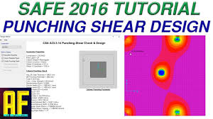 By Shear Design Punching Shear Safe 2016 Tutorial Example And Practical Theory