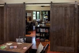 entryway office barn door. Example Of A Mountain Style Home Design In San Francisco Entryway Office Barn Door