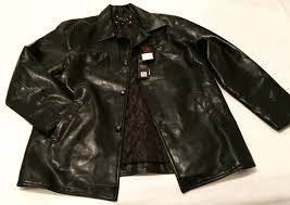 mens ega emporio italian leather jacket black size l retail 2580 00