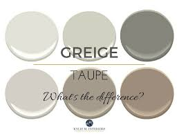 The difference between greige and taupe paint colours, mixes of beige and  gray. Undertones