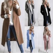 new arriavl winter formal trench women slim winter warm wool lapel long coat trench overcoat