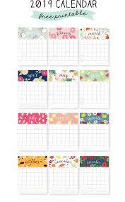 free calendar printable 2019 free printable 2019 calendars create home storage