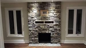 air stone veneer fireplace