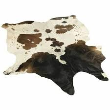 details about classic cowhide rug chocolate brown black white tricolor 5x5 ft offer