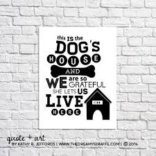 Quote Sign Enchanting Dogs Quote Print Dogs Wall Art Dog Quote Sign Funny Dog Etsy