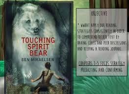 best teacher touching spirit bear images spirit touching spirit bear activboard novel study and journal a