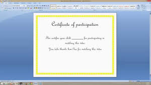 Create A Certificate In Word How to create a certificate on MS word 24 YouTube 1