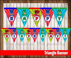 Triangle Banner 80 Off Sale Pj Masks Triangle Banner Instant Download