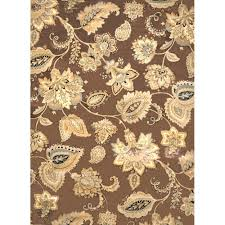 charming home decorators collection tiara brown 7 ft 8 in x 10 ft