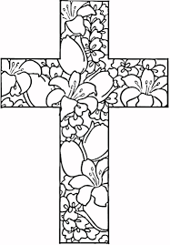 Free Printable Easter Coloring Pages Business Crosses Easter