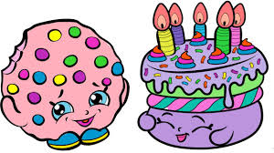 Coloring Pages Shopkins Kooky Cookie And Birthday Cake Coloring Book