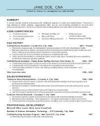 Resumes For Cna Resume Work Template
