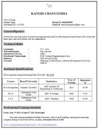 Awesome Collection Of Sample Resume For Fresher Computer Science inside Cse Engineering  Student Resume Format 1503