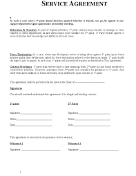 Service Agreement Samples Service Agreement Template Agreement Sample Templates