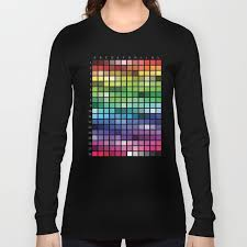 T Shirt Color Chart Color Chart Long Sleeve T Shirt By Patternrecognitionbyannembray