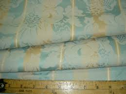 additional views closeout aqua tan damask stripe home decor fabric