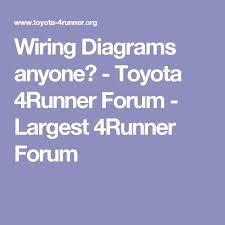 wiring diagrams anyone toyota 4runner forum largest 4runner wiring diagrams anyone toyota 4runner forum largest 4runner forum 4runner build 4runner forum toyota toyota 4runner