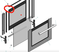 ilve oven inner door glass 600slmp