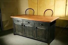 Furniture Kitchen Island Hand Crafted Rustic Barn Wood Kitchen Island By Ecustomfinishes