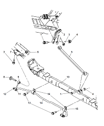 2006 chrysler town country bar rear sway traction bar diagram i2121433