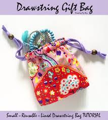 small reusable drawstring gift bag tutorial make a lined reusable bag
