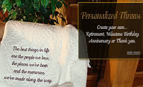 Personalized Photo Throw Blankets