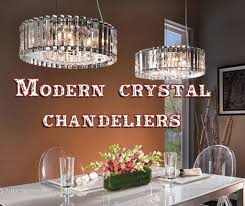modern contemporary crystal chandeliers