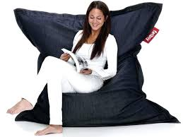 fatboy bean bag chair recycle your jeans with take off its organic denim beanbag fatboy bean