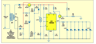 emergencylight gif this circuit will illuminate two 1watt high bright leds when the power fails the charging current is about 20 30ma it will take about 7 days to charge the