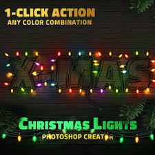 Christmas Lights Text Style Photoshop Action | PSDDude