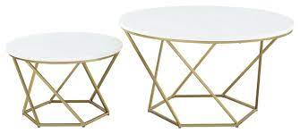2 piece nesting coffee table set