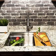 Akdy 33 L X 22 W Undermount Kitchen Sink With Drain Strainer Tray