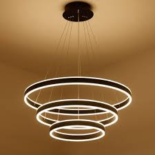 modern minimalist 1 light 4 light suspension led pendant matte black aluminum circle ring multi