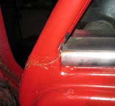 car door frame weld