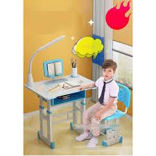 Bộ bàn học thông minh trẻ em chống gù,chống cận - Tặng kèm đèn led ( điều  chỉnh 3 chế độ )